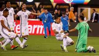 Colombia celebra el pase.