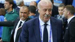 Vicente del Bosque, en el partido contra Turquía.