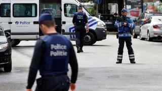La policía belga, durante la detención de un sospechoso del 22-M