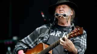Un momento del concierto de Neil Young.