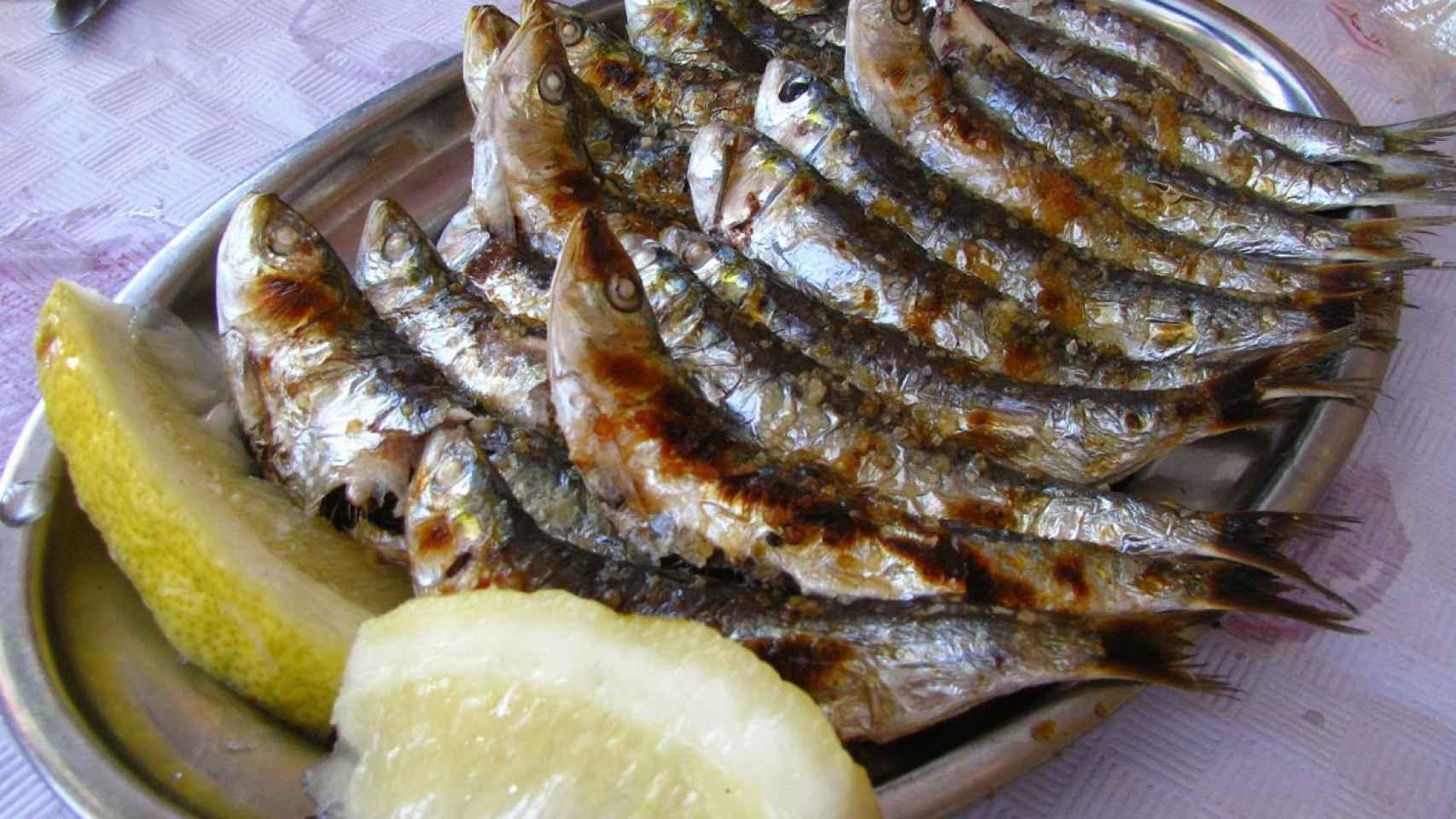 Una de las especialidades de este local son las sardinas asadas.