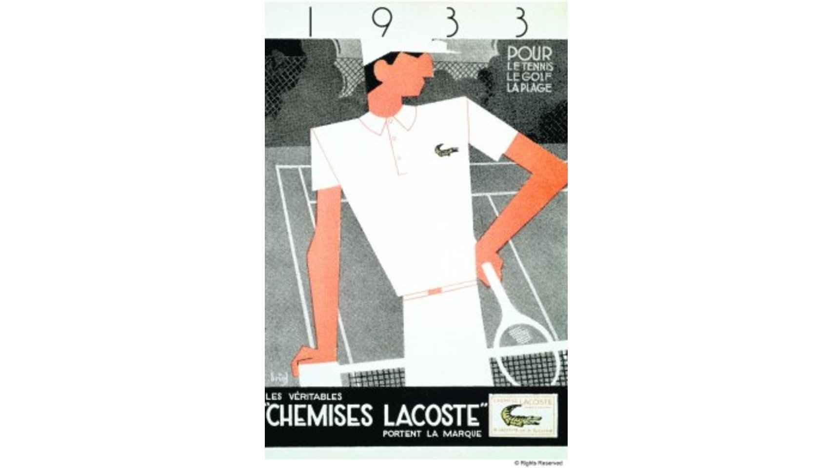 Publicidad Lacoste de 1933.