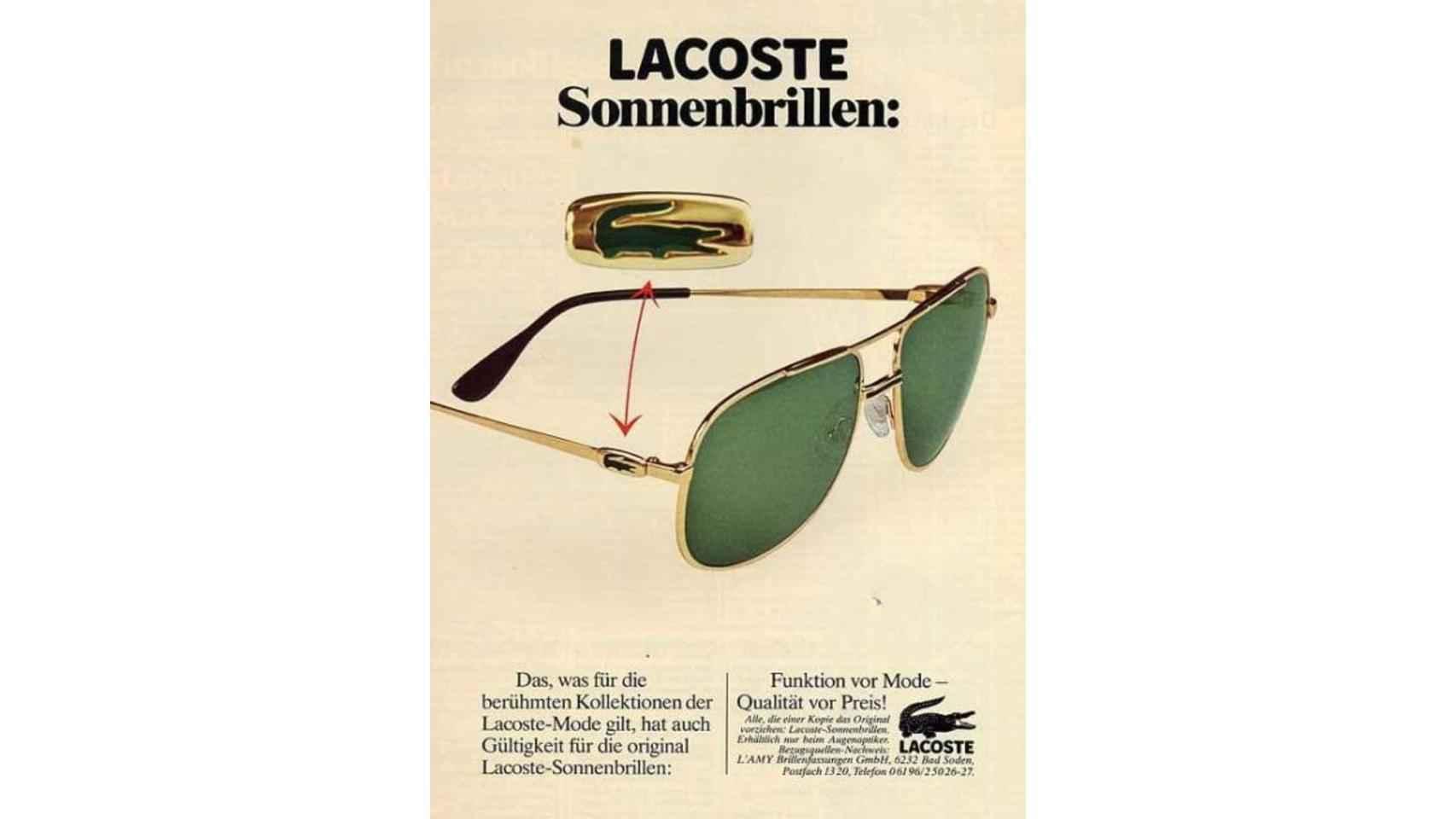 Publicidad gafas de Lacoste.
