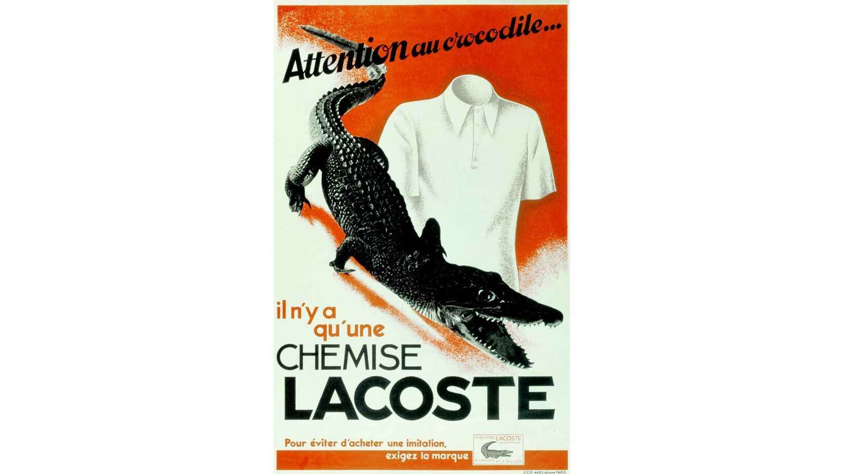 Publicidad Lacoste: Attention au crocodile.