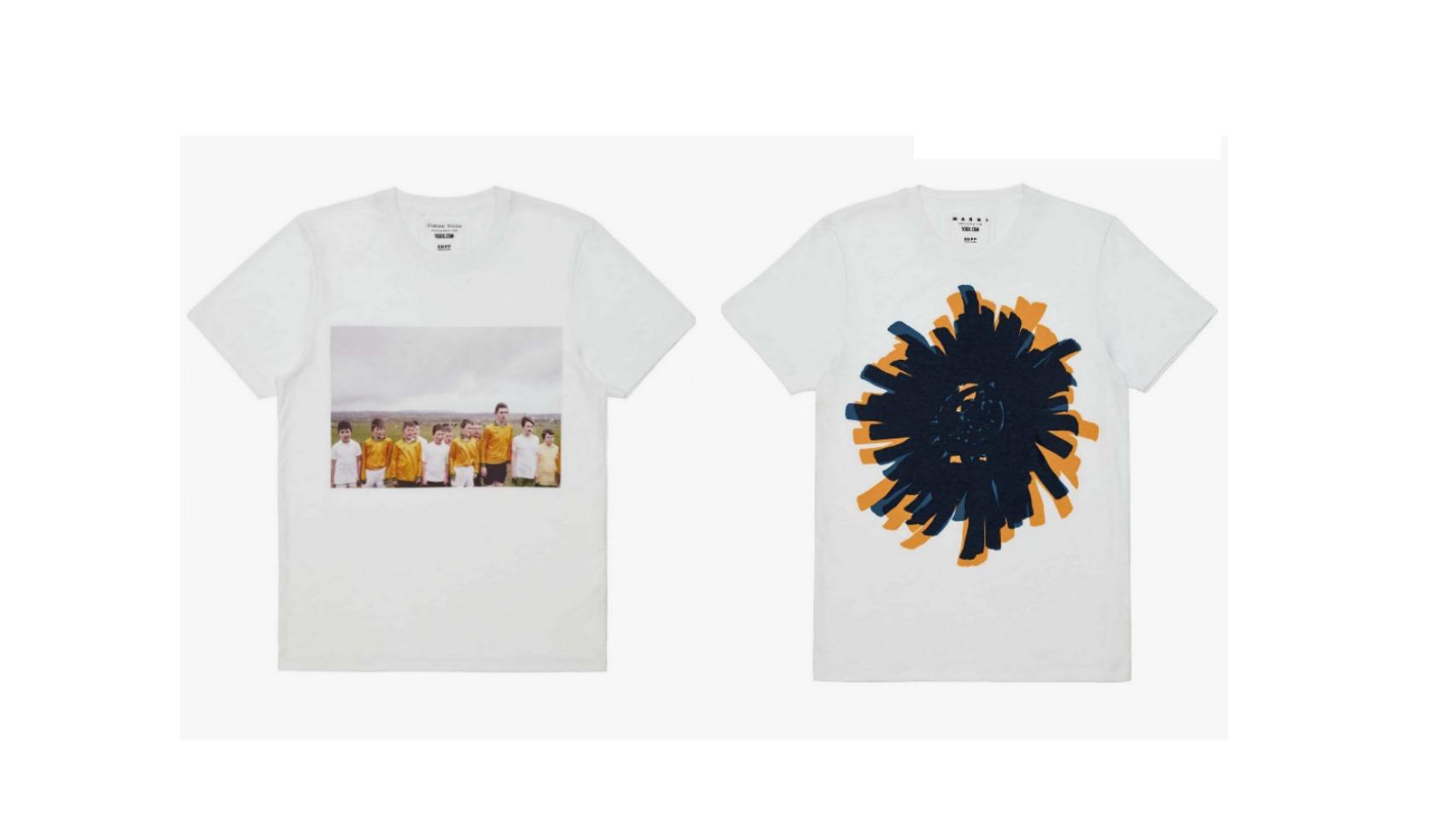 De izqda. a dcha. Camisetas de Simone Rocha (Irlanda) y Marni (Italia).