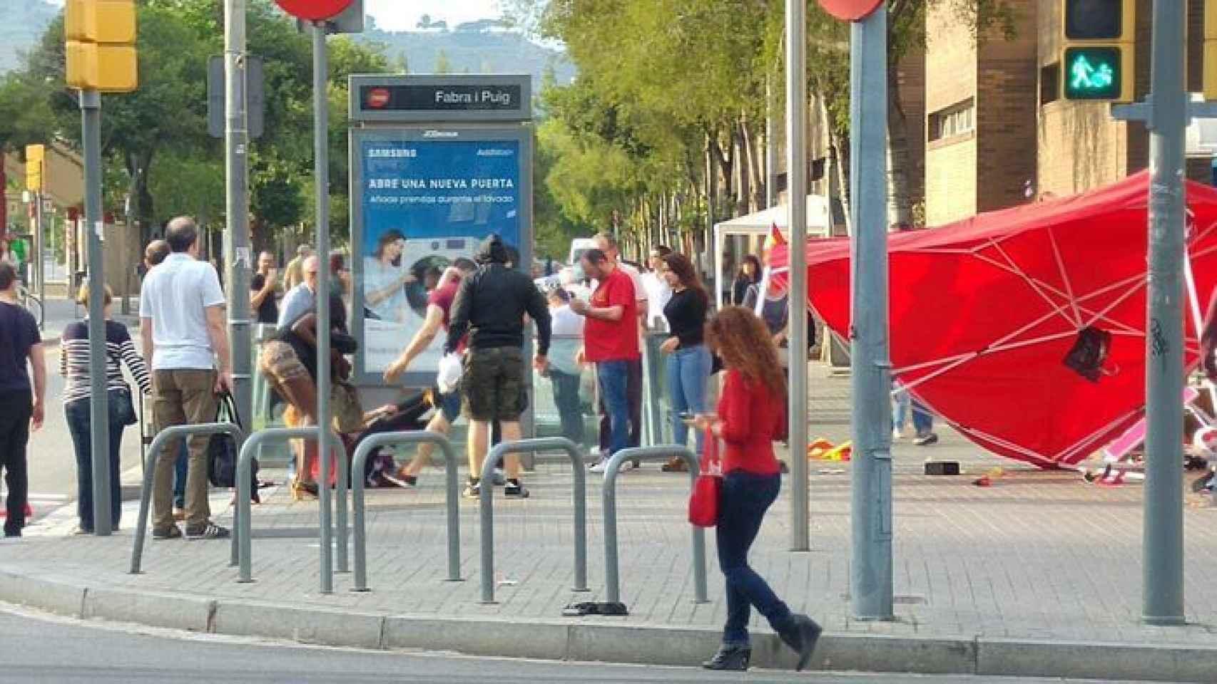 Momento de la agresión en Barcelona, el pasado 5 de junio