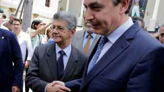 Zapatero, en su visita a Venezuela el pasado mayo.