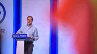 Rajoy en un acto electoral de este martes.