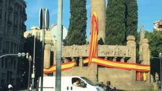El misterio de las banderas españolas en Barcelona