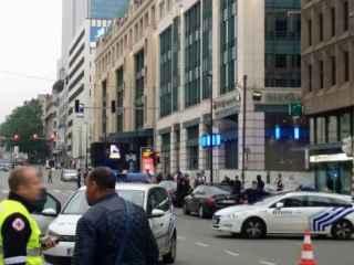 Detenido en el centro de Bruselas un hombre con un cinturón de explosivos