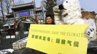 Manifestación a favor del protocolo de Kioto