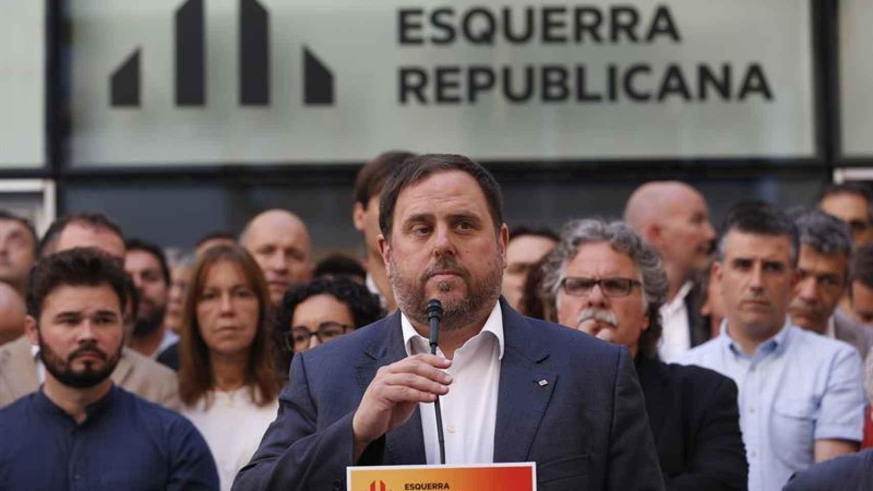 Oriol Junqueras, el pasado miércoles en Barcelona