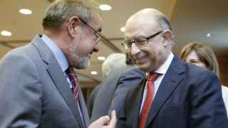 Montoro, junto al presidente de la patronal valenciana,  Jose Vicente González