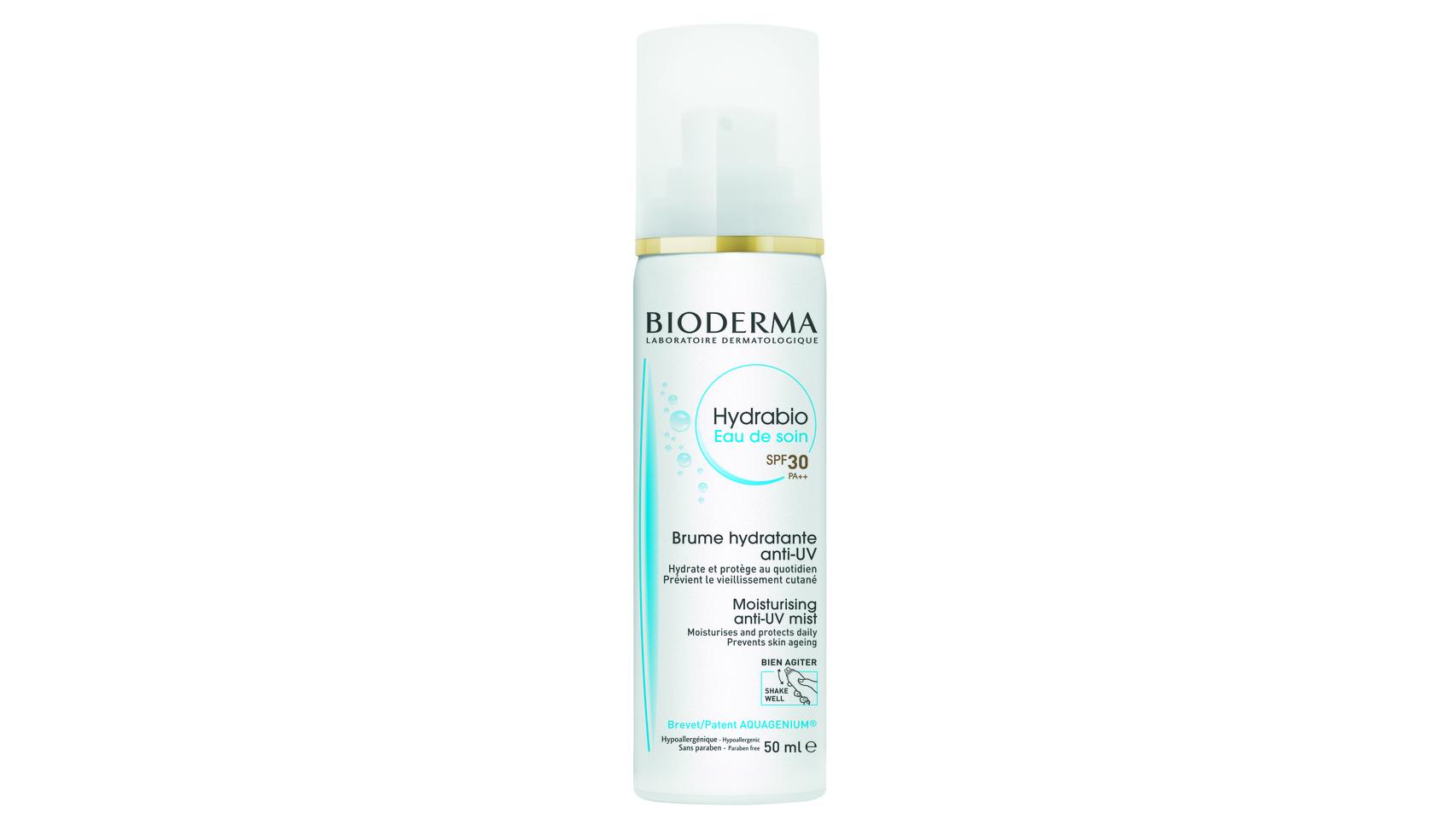 Hydrabio Agua hidratante SPF30 Bioderma.