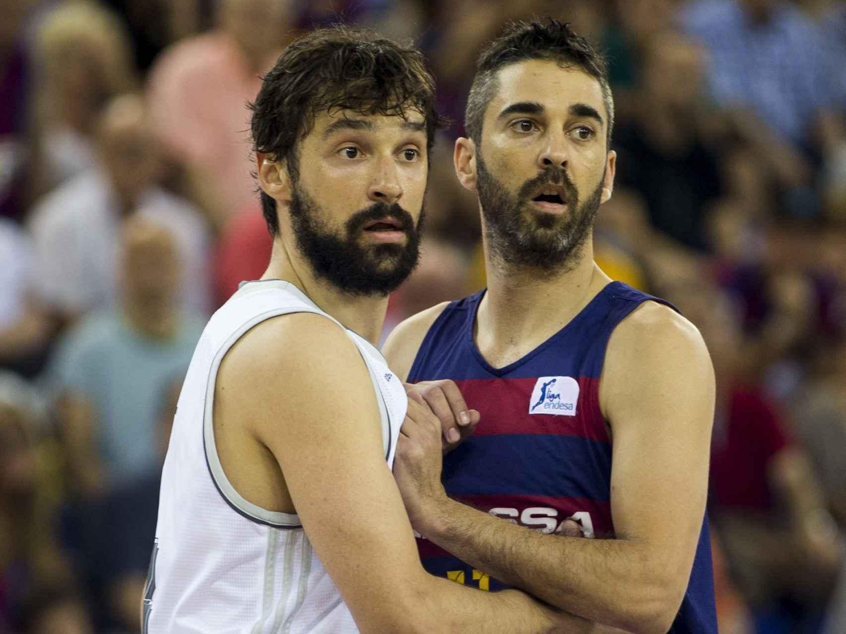 Sergio Llull y Juan Carlos Navarro durante la final de la ACB.