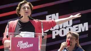 Ada Colau y Xavier Domenech, en un acto reciente celebrado en Badalona.