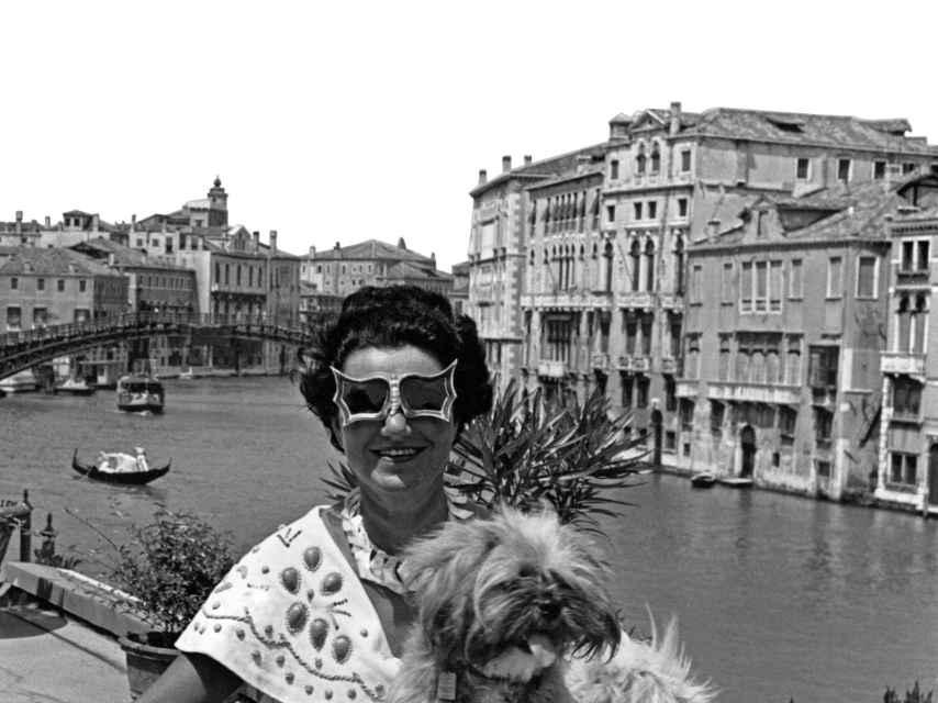 Peggy Guggenheim en Venecia.