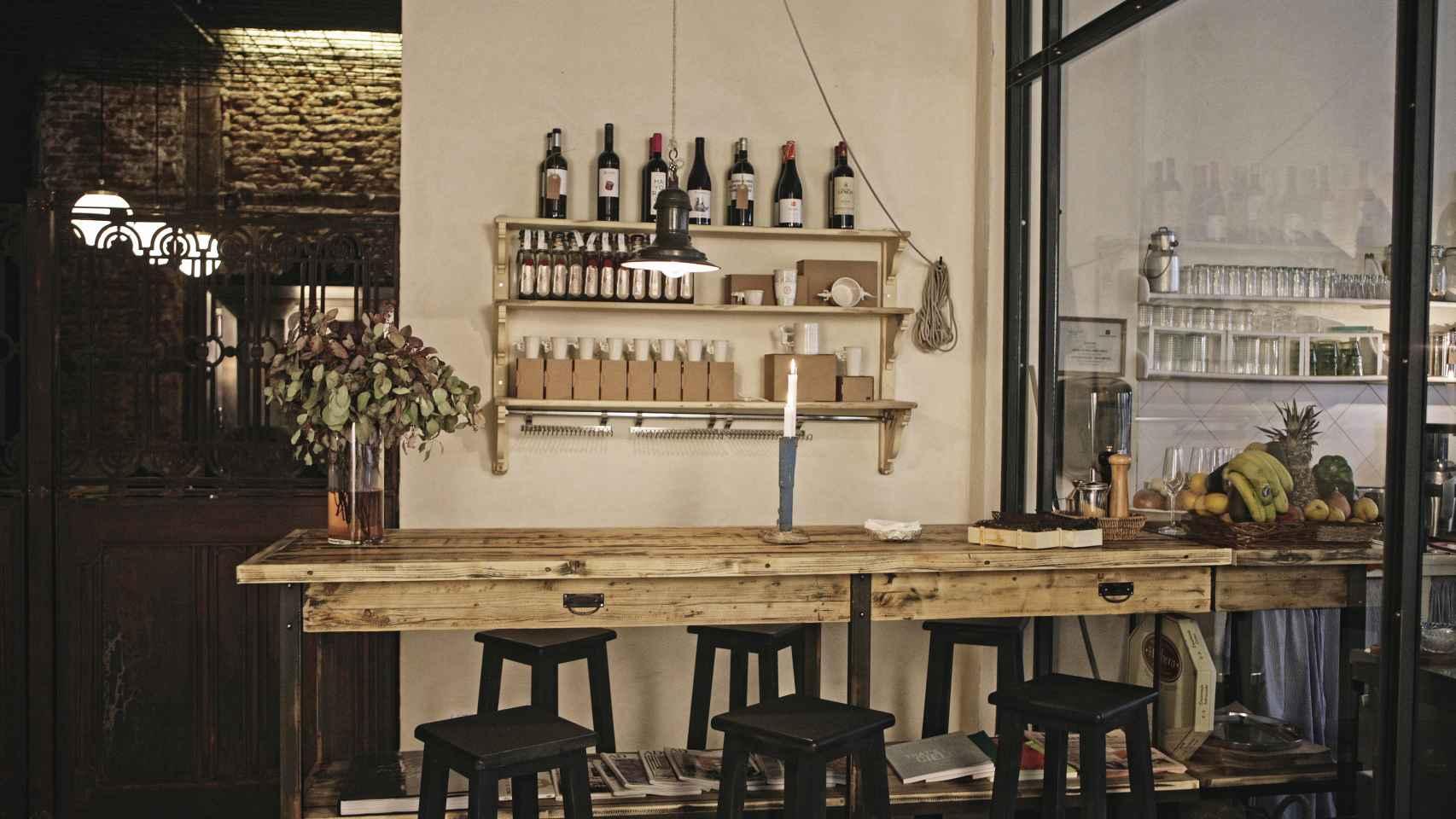 Zona de la cantina donde poder disfrutar de una comida Mediterránea.