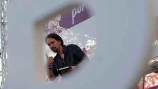 Pablo Iglesias, durante el mitin de Podemos en Jerez.