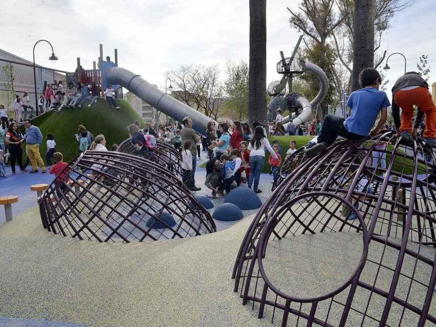 Parque Infantil del Paseo Real y La Negrita, en Antequera, considerado uno de los mejores a nivel nacional.