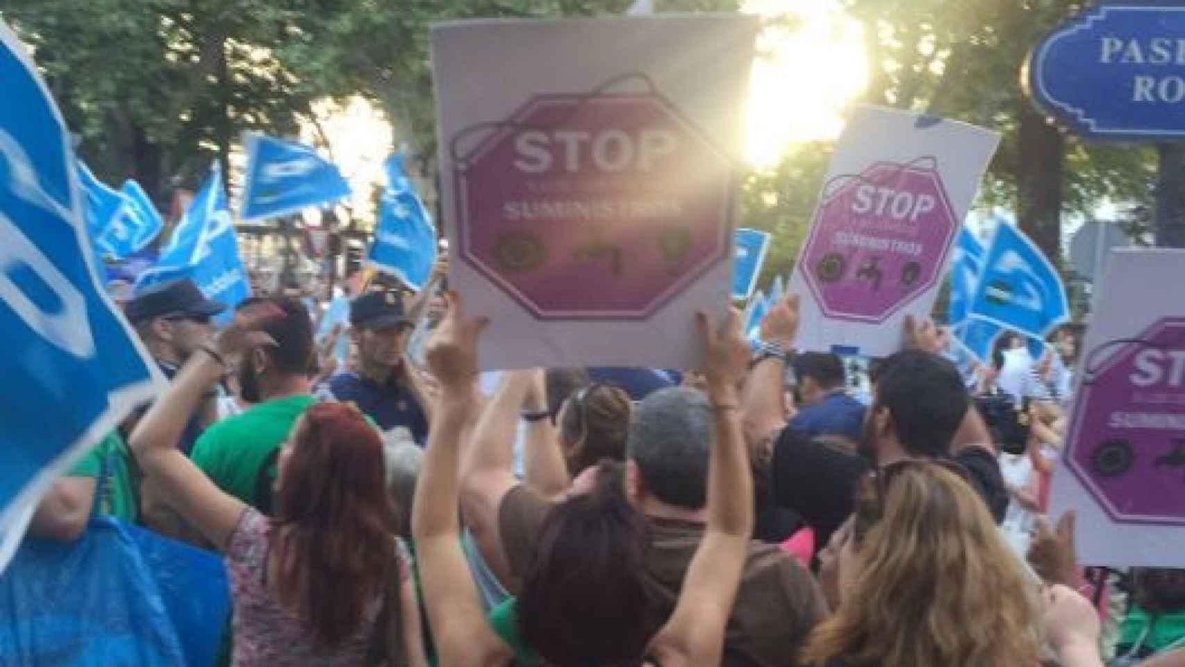 Enfrentamiento de militantes del PP y activistas de la PAH
