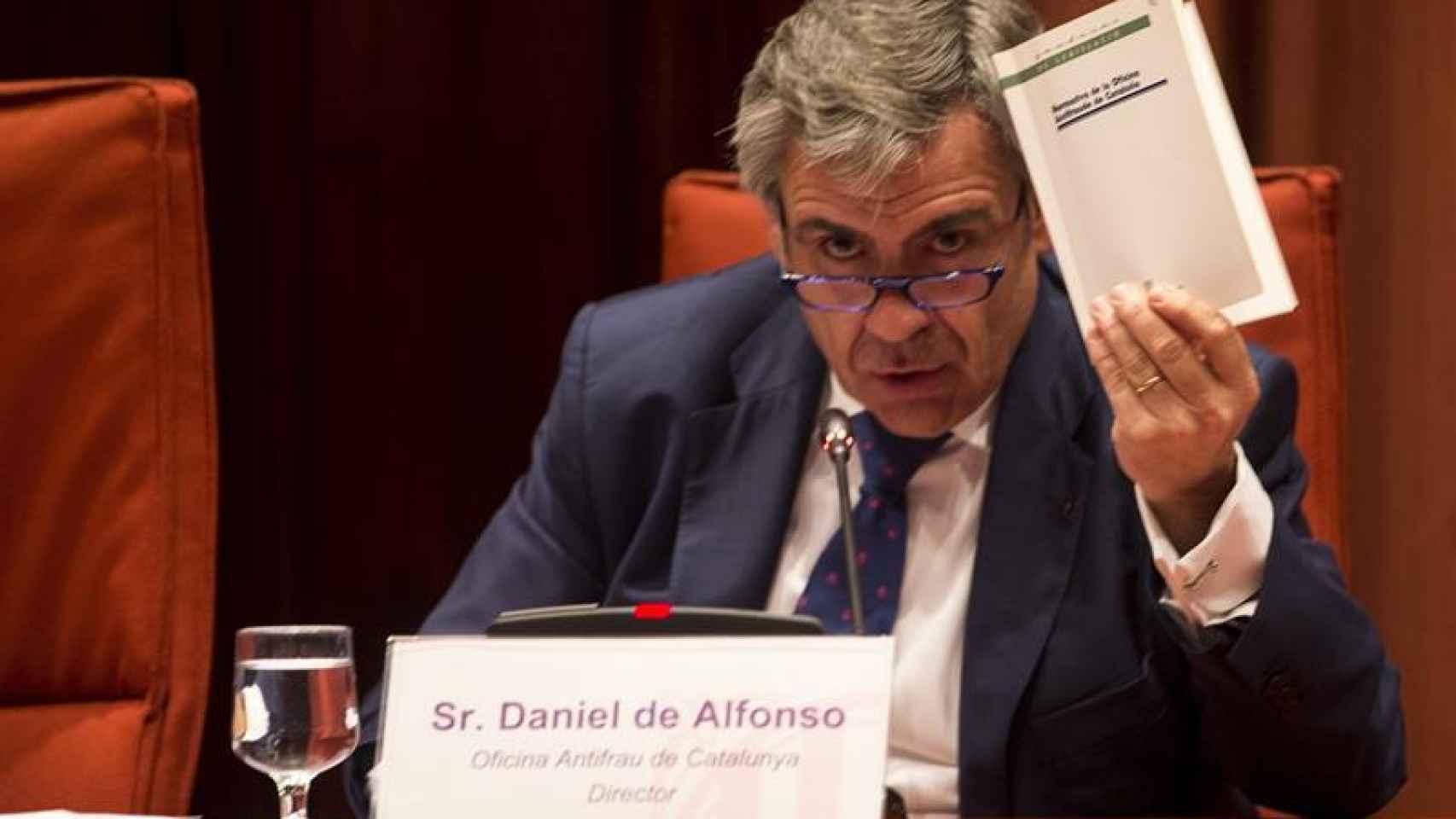 De Alfonso, durante su comparecencia en el Parlament