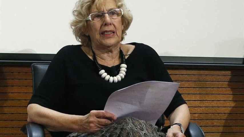 Manuela Carmena, asiste a la presentación de la VII edición de la Gala Sida.