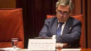 El director de la Oficina Antifraude de Cataluña, Daniel de Alfonso, durante su comparecencia hoy en el Parlament