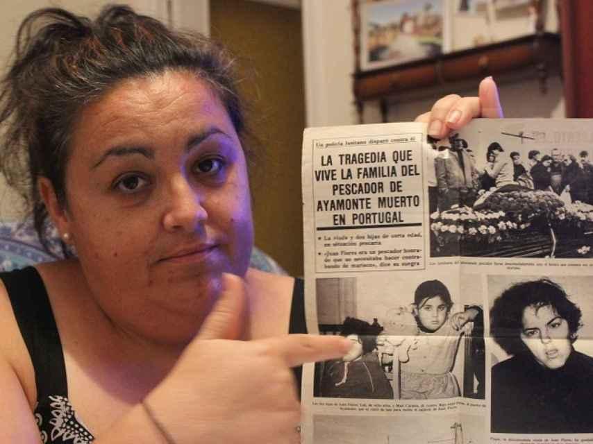 Lola, la hija del contrabandista asesinado, se señala en un periódico de la época