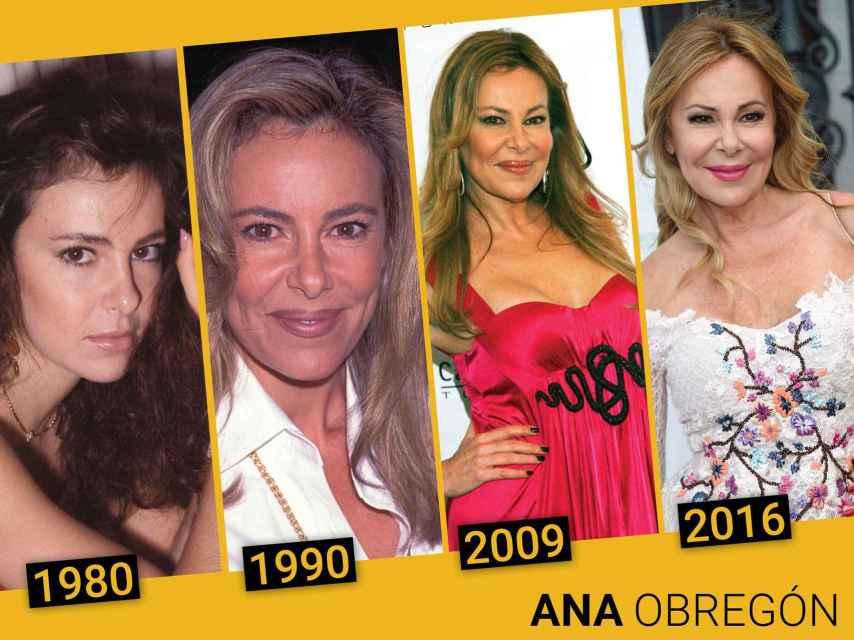 Montaje de la evolución de Ana Obregón