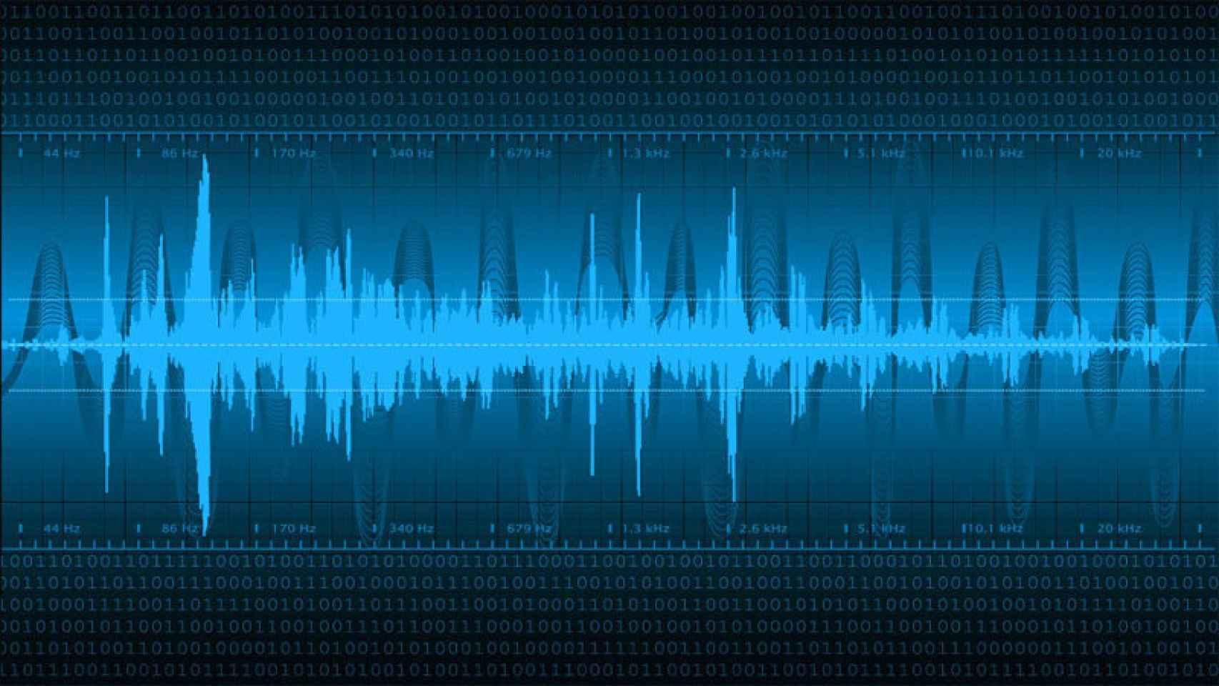 Imagen del registro de sonidos de baja frecuencia.