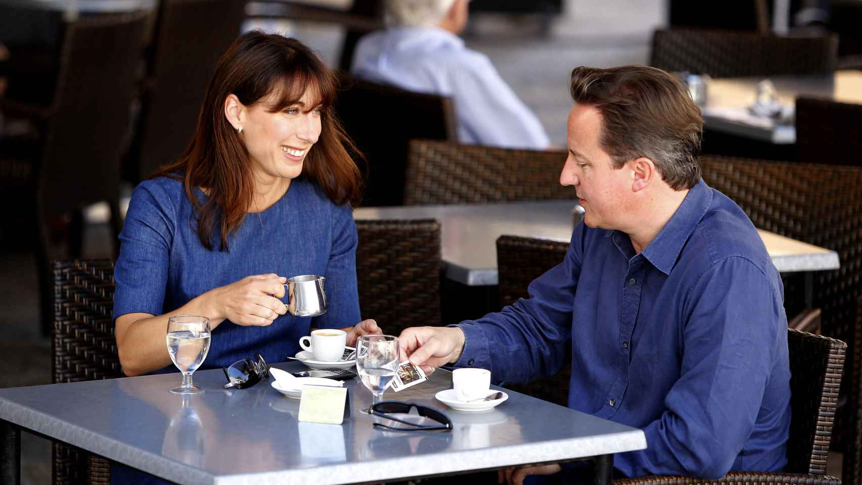 David Cameron y su esposa Samantha en Mallorca
