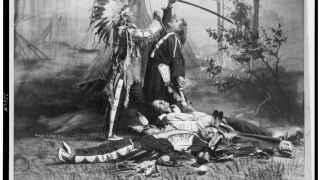 Dramatización de 1905 de la muerte de Custer a manos de Toro sentad.