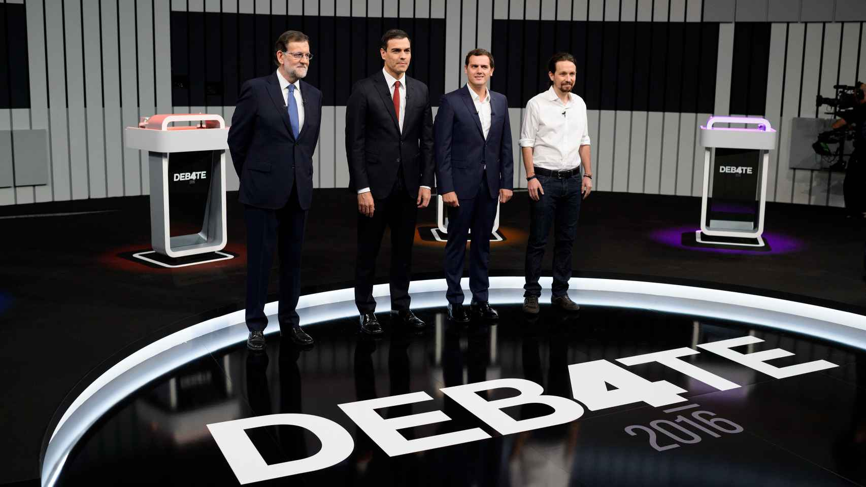Los cuatro principales candidatos a la presidencia.