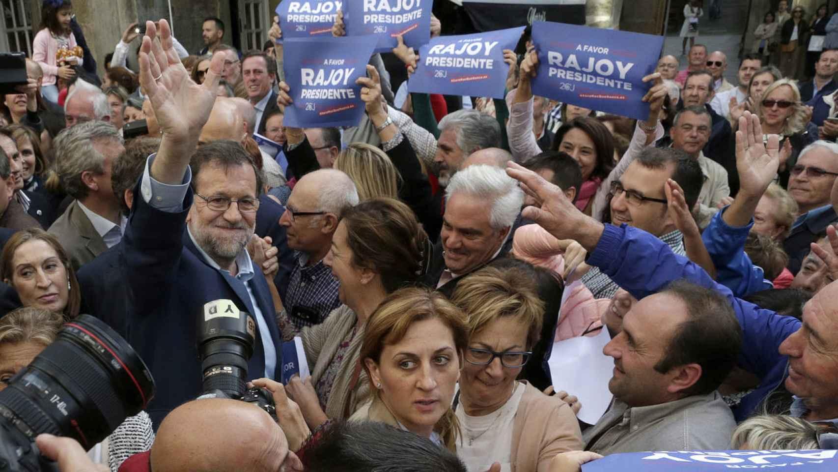 Mariano Rajoy, durante un mitin
