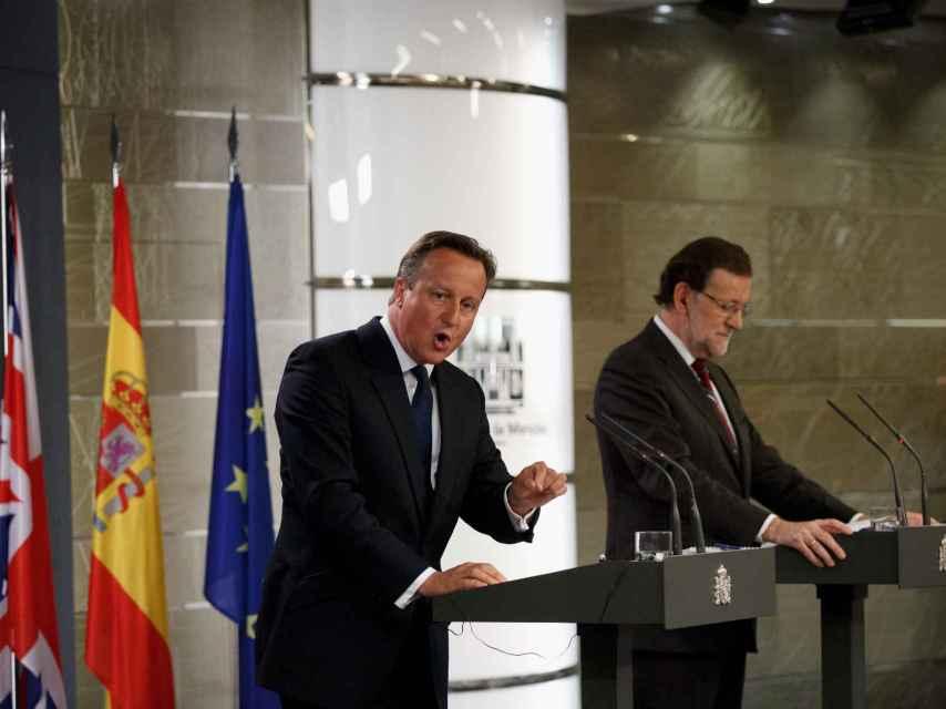 David Cameron y Mariano Rajoy en septiembre de 2015.