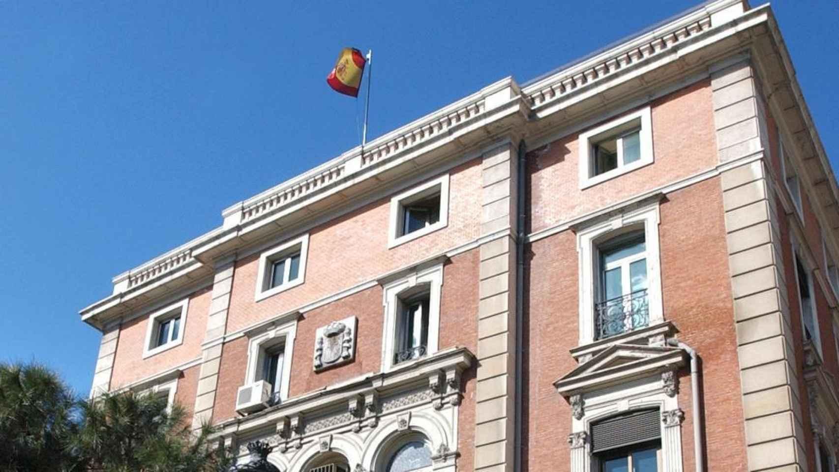 Fachada del edificio del Ministerio del Interior.