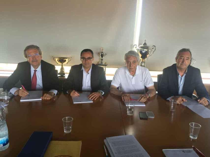 Joan Fa, Arturo Aguado, Juan Martín Caño y Antonio de Torres.