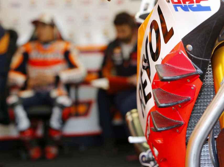 Las alas triples de la Honda RC213V de Marc Márquez.