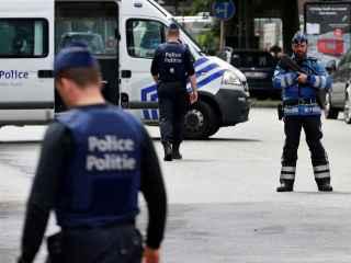 La policía belga, durante una reciente reconstrucción de los atentados del 22-M