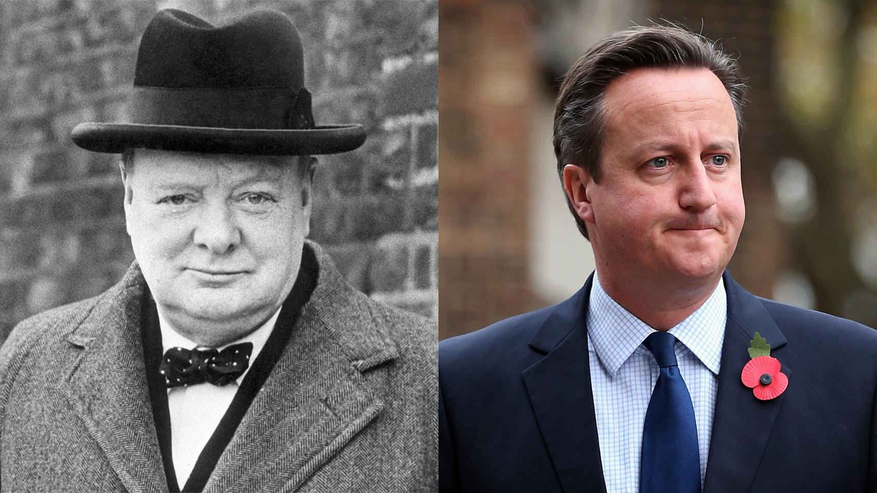 Churchill y Cameron.