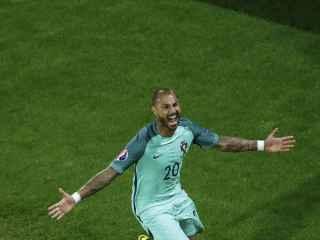 Ricardo Quaresma celebra su gol decisivo ante Croacia.