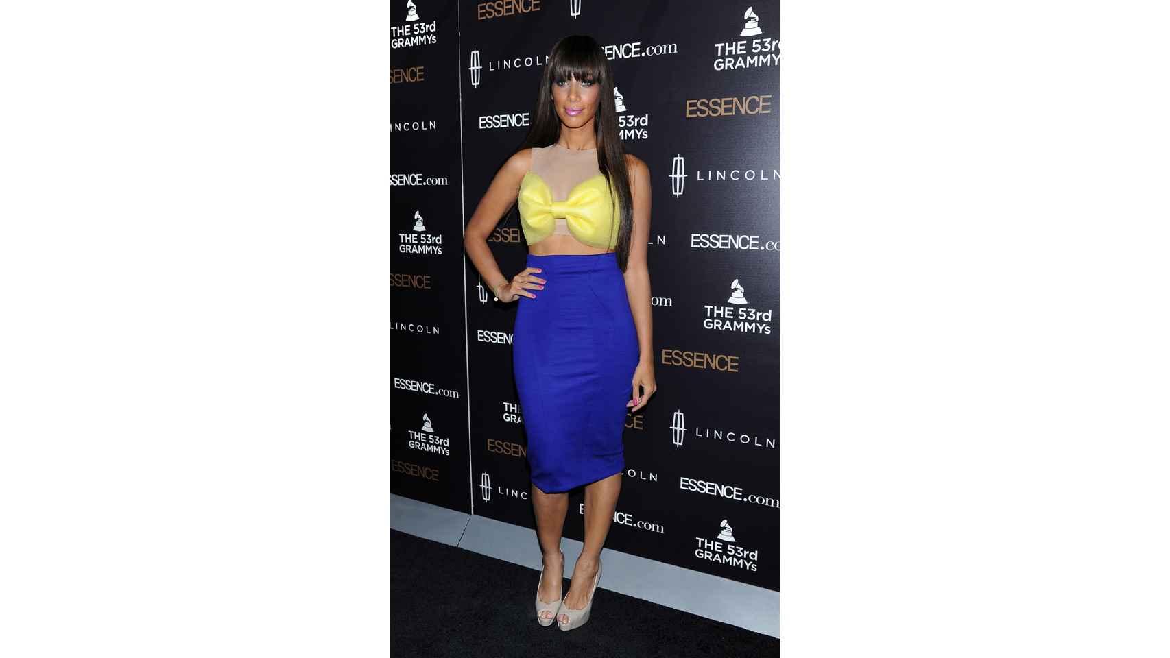 La cantante Leona Lewis en la segunda gala anual de la mujer negra en la música en Los Ángeles.