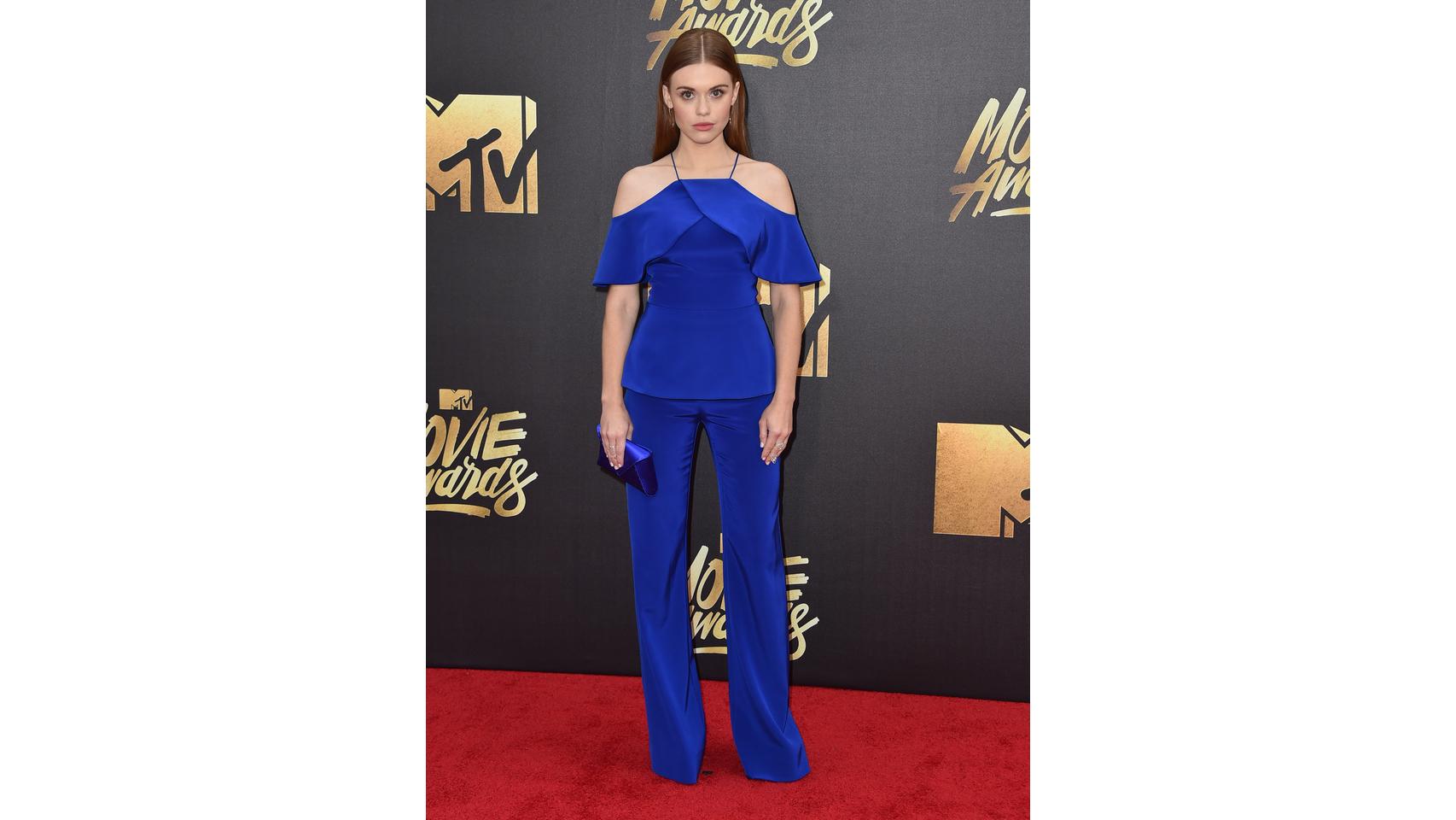 La actriz Holland Roden en los premios MTV Movie Awards de 2016.
