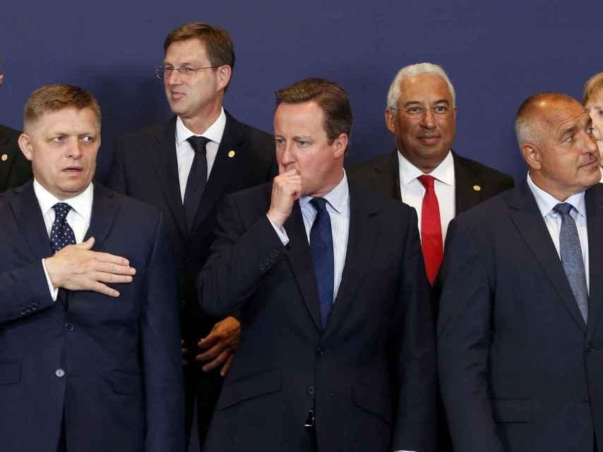 La última foto de familia de Cameron con el resto de líderes de la UE