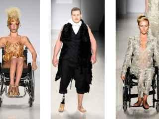 Modelos con discapacidad en la Fashion week de Nueva York en 2015.