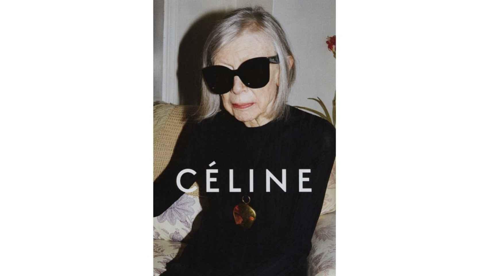 Joan Didon como imagen de Céline.