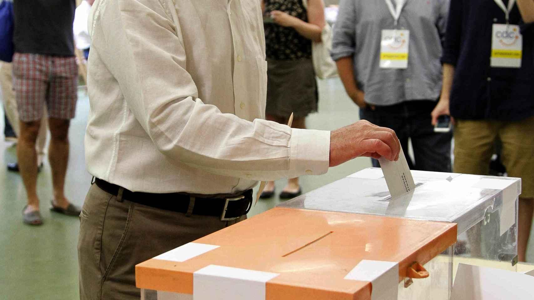 Artur Mas, votando en las elecciones del pasado domingo.