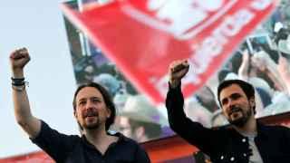 Pablo Iglesias en el cierre de campaña de Unidos Podemos.