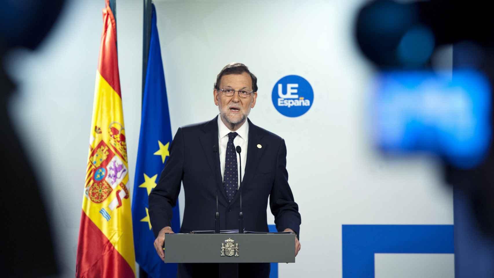 Rajoy comparece ante la prensa tras la primera reunión de la UE sin Reino Unido